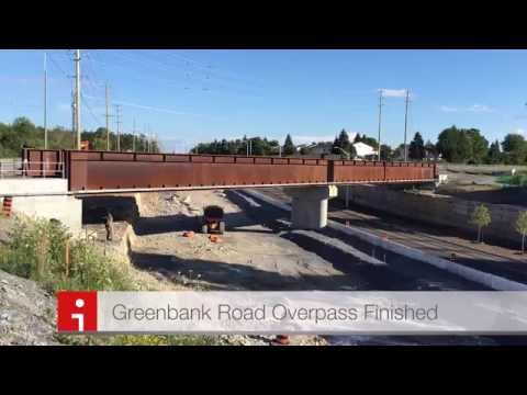 Greenbank Road VIA Rail Bridge Construction Completed In Barrhaven, Ottawa