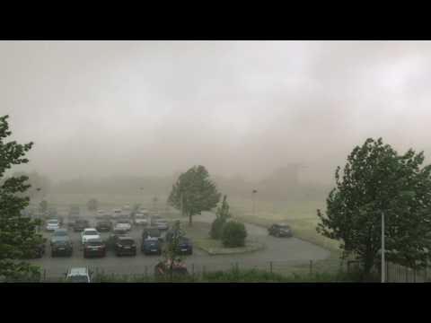 Unwetter zieht über Sachsen-Anhalt