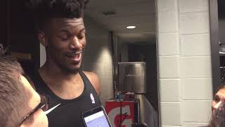 10/17/18: Jimmy Butler After Season Opening Loss