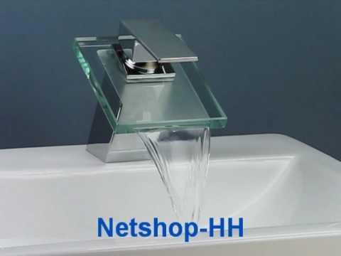Wasserhahn / Armatur Sanitärglas Chrom Wasserfall | netshop-016 ... | {Armaturen badewanne wasserfall 41}