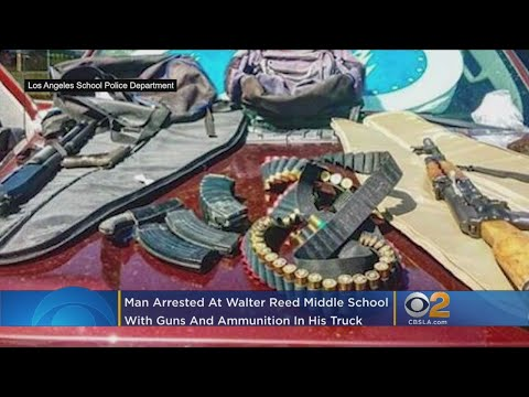 Guns, Ammo Discovered In Truck Of Man Loitering Outside Studio City School