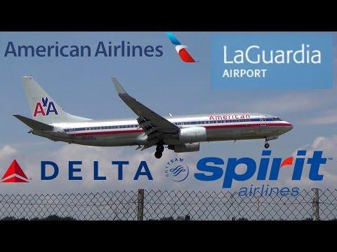 LaGuardia Action! Planespotting at LGA Airport - American, Delta, Spirit (Full HD)