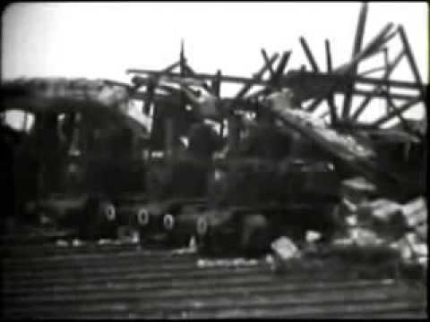 Hof an der Saale - Das zerstörte Bahnbetriebswerk Hof im April 1945