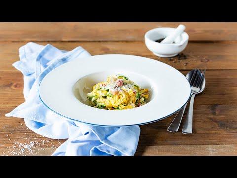 Video: Zucchini Spaghetti Carbonara  XXXLecker