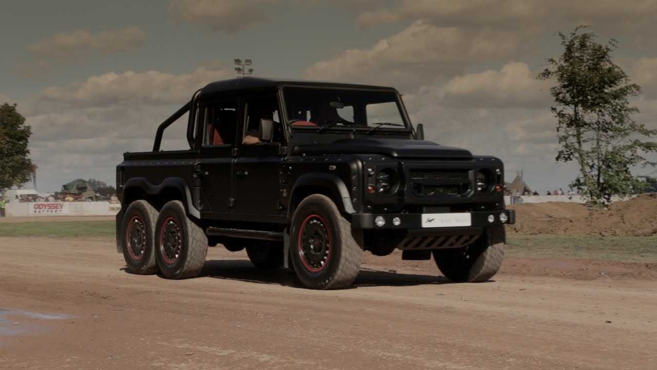 Kahn tv launch of the flying huntsman 6x6 defender 110 crew cab pickup youtube