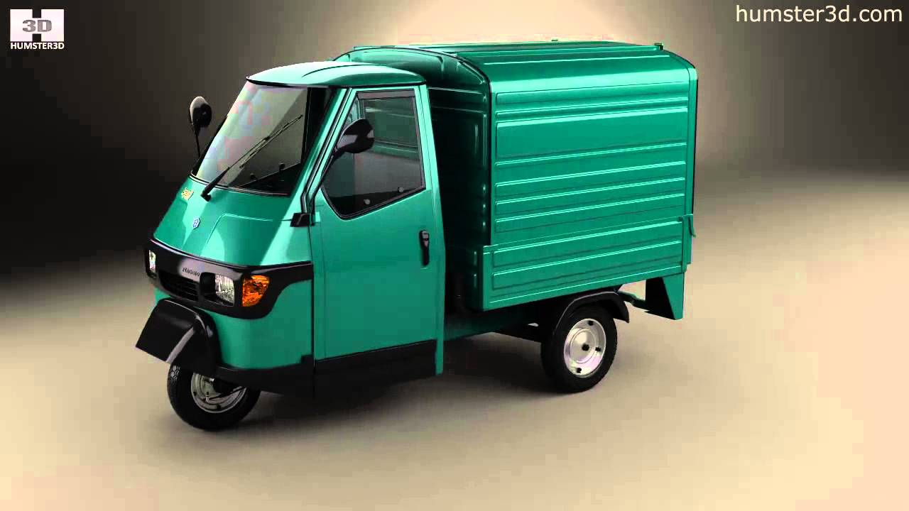piaggio ape 50 1996 by 3d model store youtube. Black Bedroom Furniture Sets. Home Design Ideas