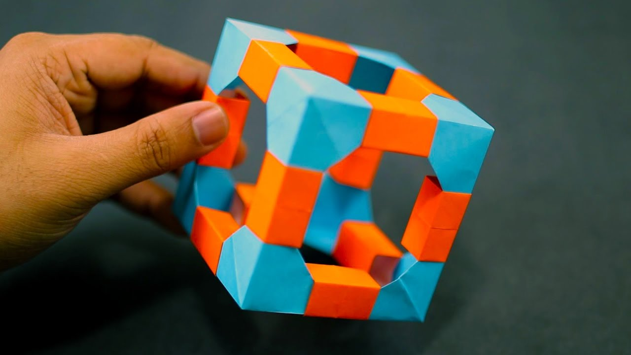 Origami cubes | Origami cube, Origami folding, Geometry art projects | 720x1280