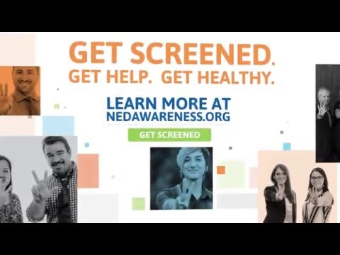 National Eating Disorders Awareness Week 2016 - Billboard with Music