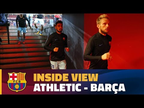 [BEHIND THE SCENES] Barça prepare to face Athletic in San Mamés