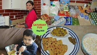 Vlog 2018: A Busy Saturday | Grocery Shopping and Haul | Real Homemaking