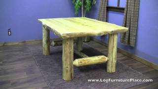 Cedar Lake Cabin Log Dining Table From Logfurnitureplace.com