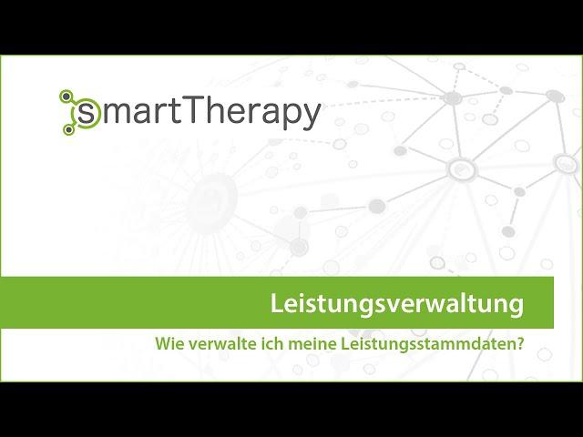 smartTherapy: Leistungsverwaltung
