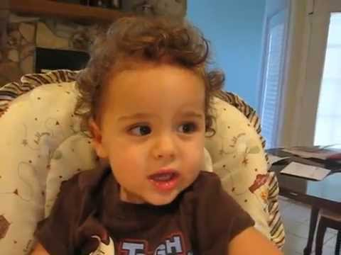 Cute ba boy singing ABC Alphabet song at 18 months old!