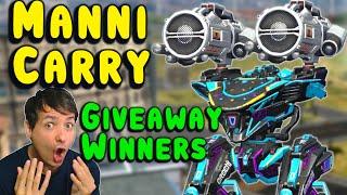 Manni on Killing Spree! + Giveaway Winners - War Robots Gameplay WR