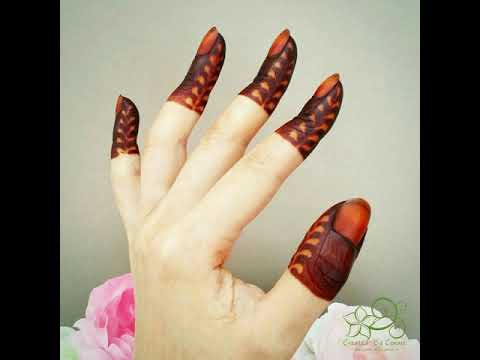 Mehndi Fingers Rating : New stylish finger mehndi designs simple super easy fingertip