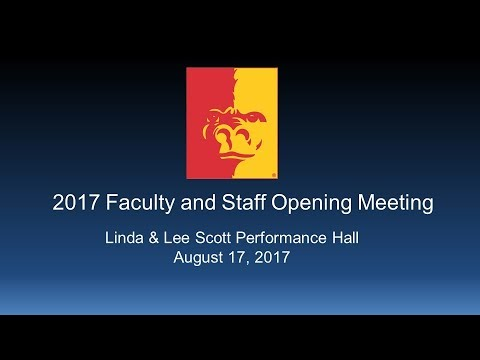 2017 Opening Faculty Meeting (full program) - Pittsburg Stat