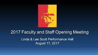 2017 Opening Faculty Meeting (full program) - Pittsburg State University