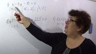 Линейные уравнения с двумя переменными