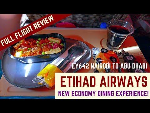 ETIHAD AIRWAYS FLIGHT REVIEW | NEW DINING CONCEPT | EY642 | NAIROBI TO ABU DHABI | NBO-AUH