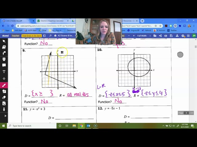 Algebra 2: Intro to Relations and Functions