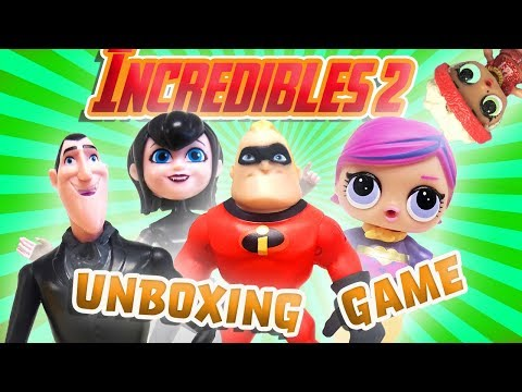 Incredibles 2 Toy Haul Unboxing Game with LOL Surprise Dolls Super BB and Hotel Transylvania 3 Drac!