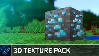 Minecraft 1.13 - 3D TEXTURE PACK - Default 3D Resource Pack for Minecraft Java 1.13