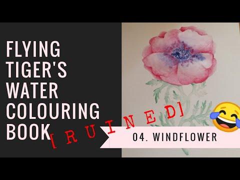 [04] Flying Tiger Copenhagen's Watercolouring book: Windflower [RUINED VERSION LOL]