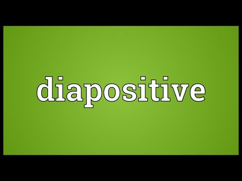 Header of diapositive