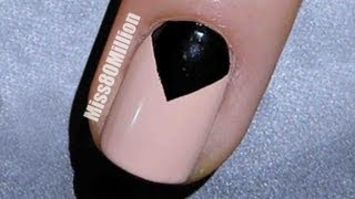 Black Moon Triangle - Nail Art Tutorial