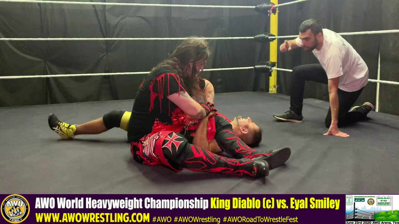 AWO Road To WrestleFest 2020 King Diablo vs. Eyal Smiley
