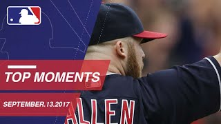 Tribe wins 21st straight, plus nine more moments around the Majors: 9/13/17