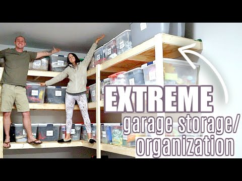 EXTREME GARAGE STORAGE & ORGANIZATION | DIY GARAGE SHELVING | MORE WITH MORROWS
