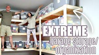EXTREME GARAGE STORAGE & ORGANIZATION | DIY GARAGE SHELVING | MORE WITH MORROWS