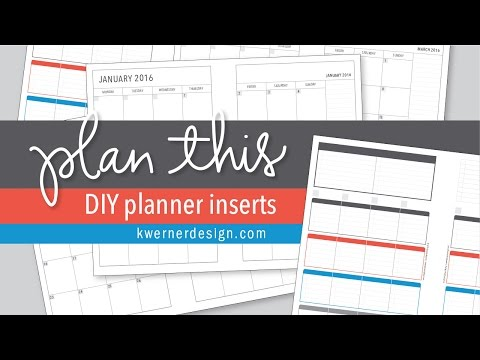 Introducing PlanThis Planner Inserts - Editable DIY Planner Inserts