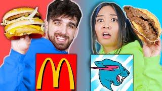 McDONALDS vs MRBEAST BURGER Food War Taste Test Eating Challenge for 24 Hours by Spy Ninjas