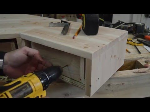 How To Make A Pallet Wood Monitor Desk Riser With Drawers