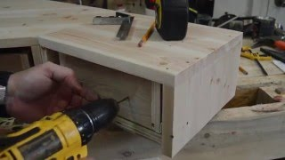 How to make a Pallet Wood Monitor Desk Riser with Drawers - Part 2