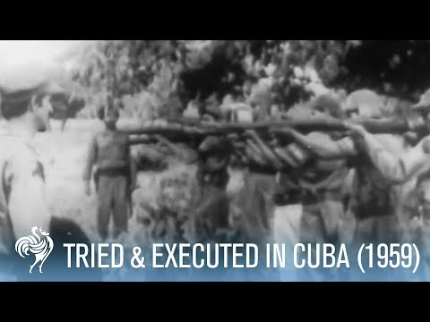 Former Government Official Tried & Executed in Cuba (1959) | War Archive