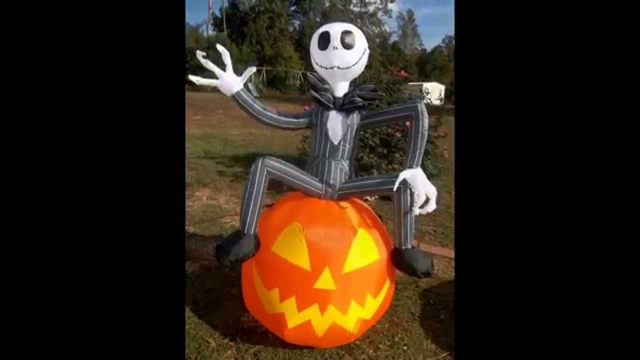 Nightmare Before Christmas Halloween Decorations October 2015 Youtube