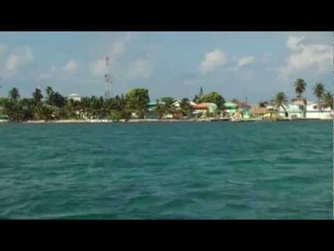 Caye Caulker from the San Pedro Express Water Taxi