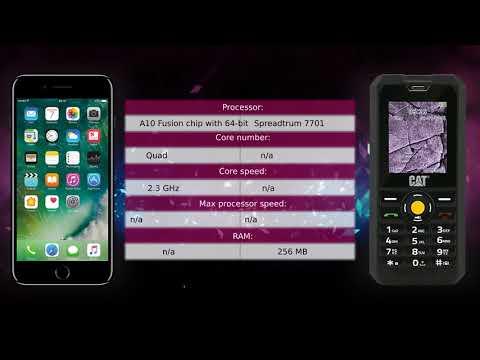 Apple iPhone 7 Plus vs CAT B30 - Phone comparison