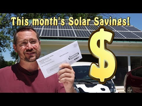 This Month's Solar Electric Savings! (May 2018)