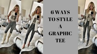 6 Ways to Wear a Graphic Tee |…