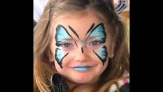 Очаровательный детский аквагрим на лице для детей
