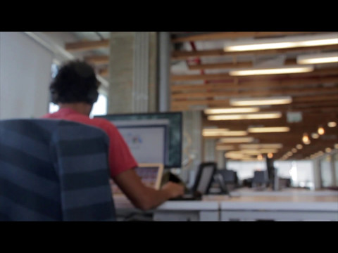 Working At The Office - Free HD Stock Footage (No Copyright) --- Computer On A Work Desk