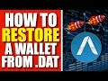 How To Restore A Wallet From .Dat File (Apollon Coin XAP)
