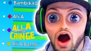Ali A  FORTNITE CRINGE COMPILATION!