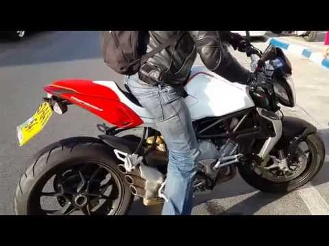 MV Agusta Brutale 800 2013 - Exhaust Sound (Open Pipes - Custom Made)