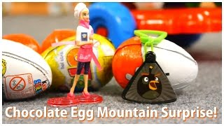 CHOCOLATE GARBAGE TRUCK Surprise Egg Mountain! Mega Munch Demo & Commentary [trứng bất ngờ]