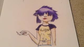 Gorillaz Noodle Drawing (Phase 4)